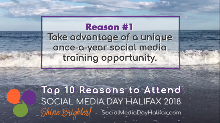 Social Media Day Halifax - 10 reasons you should go: Reason #1